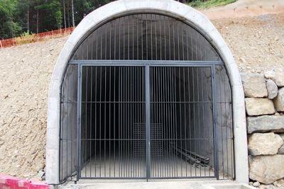 Puerta con enrejado para tunel de servicio