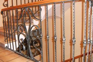 Barandilla de interior realizada en forja artística