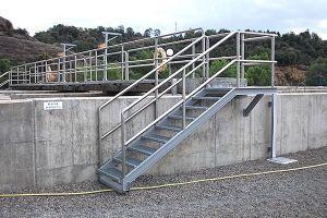 Barandillas y escaleras para depuradora